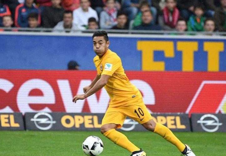 Marco Fabián se ha convertido en pieza fundamental del cuadro de Frankfurt, quienes se ubican en las primeras posiciones de la Bundesliga alemana.(Foto tomada de Facebook/Eintracht Frankfurt)