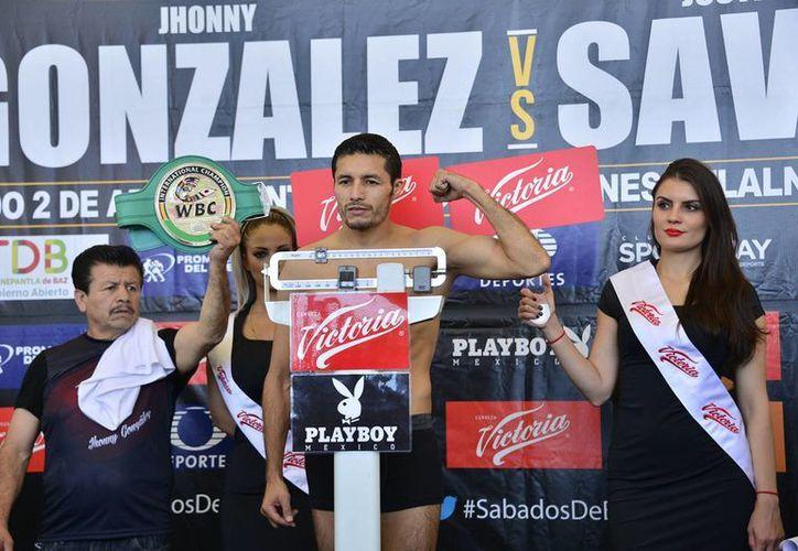 Jhonny González anhela el título que lo llevaría a convertirse en trimonarca del boxeo internacional.  (Archivo/ Notimex)