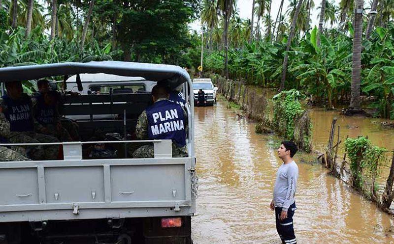 Apoya Marina en Colima y Jalisco, tras impacto de