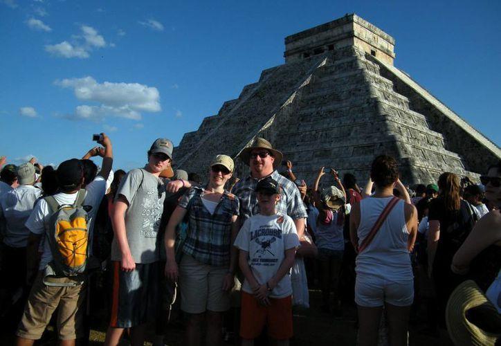 En la actual temporada de Semana Santa se ha incrementado la visita de turismo internacional, en especial de Sudamérica y Europa. (SIPSE)