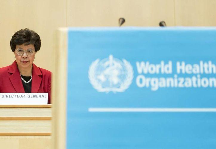 La directora general de la OMS, Margaret Chan, asiste al comienzo de la 67 edición de la Asamblea Mundial de la Salud, en Ginebra, Suiza. (EFE)