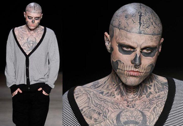 Rick Genest, conocido como Zombie Boy, tenía 32 años de edad. (Internet)