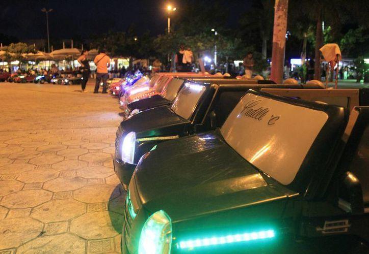 La renta de cada carro es de 20 pesos por 10 minutos. (Sergio Orozco/SIPSE)