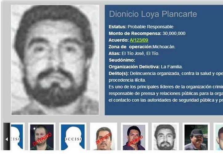 Las autoridades ofrecían 30 millones de pesos por la cabeza de Loya Plancarte. (recompensas.gob.mx)
