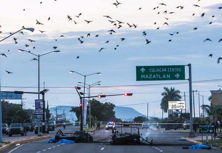 Los militares fueron emboscados en Culiacán, Sinaloa, el 30 de septiembre de este año. (twitter.com/EntreReporteros)