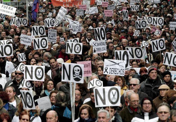 Las protestas en España son cada vez mas frecuentes. (Agencias)