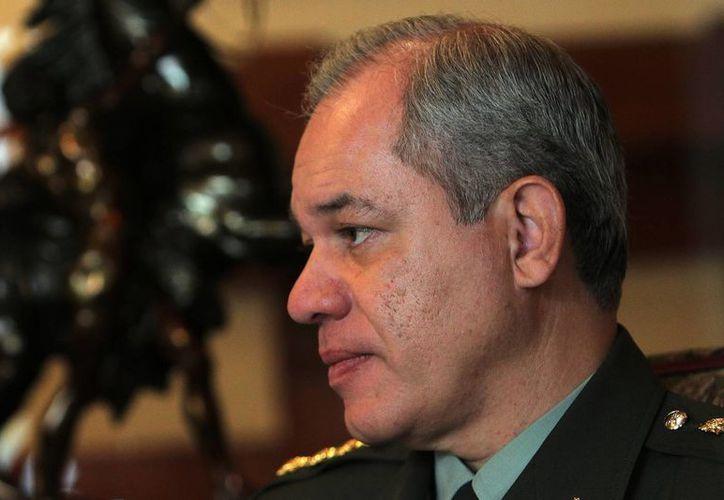 El director de la Policía Nacional de Colombia, José Roberto León Riaño, durante una entrevista en la Escuela de Carabineros de Chile, en Santiago de Chile. (EFE)