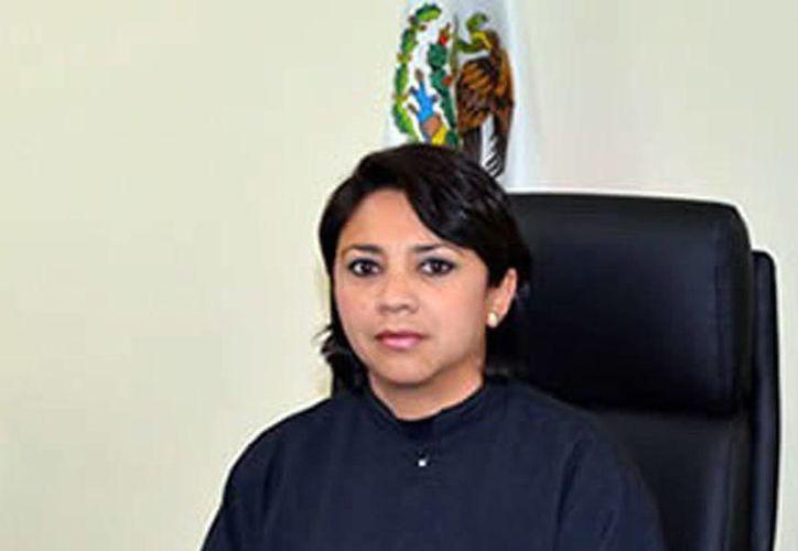 La jueza primera de control de Mérida, Elsy Villanueva Segura. (Milenio Novedades)