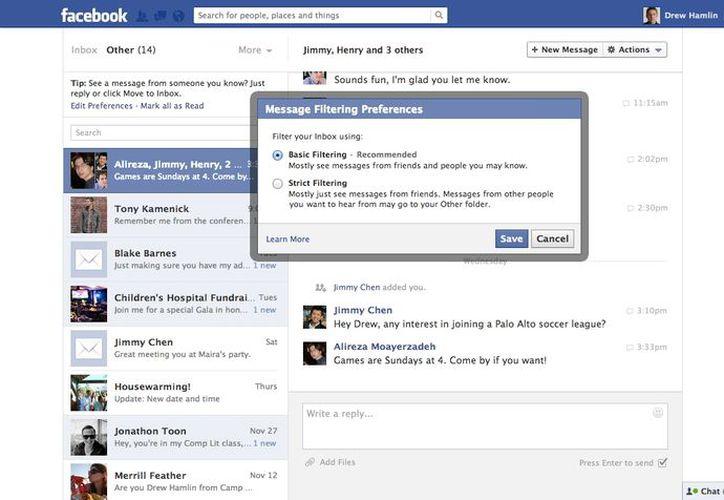 La medida destacaría sólo los mensajes relevantes. (newsroom.fb.com)