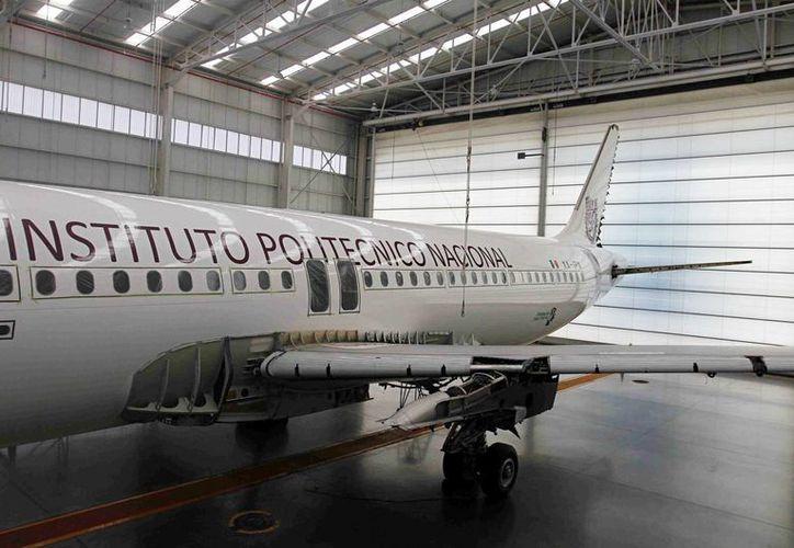 La donación de Interjet al IPN busca garantizar la formación de profesionales en ingeniería aeronáutica. (Notimex)