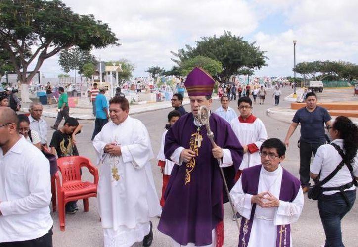 Los sacerdotes de Nuevo Laredo fueron recibidos por el Arzobispo de Yucatán, Gustavo Rodríguez Vega. (Imagen de archivo/ Milenio Novedades)