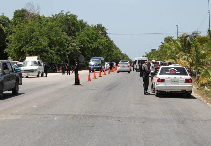 La Dirección de Tránsito municipal busca exhortar a los taxistas a retirar las micas polarizadas de las ventanillas de sus unidades. (Rossy López/SIPSE)