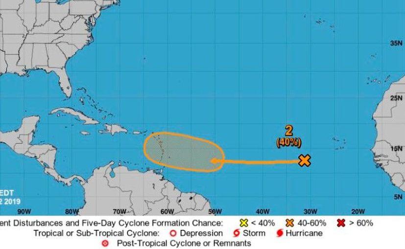 Se vigila esta onda tropical en el Océano Atlántico. (NOAA)