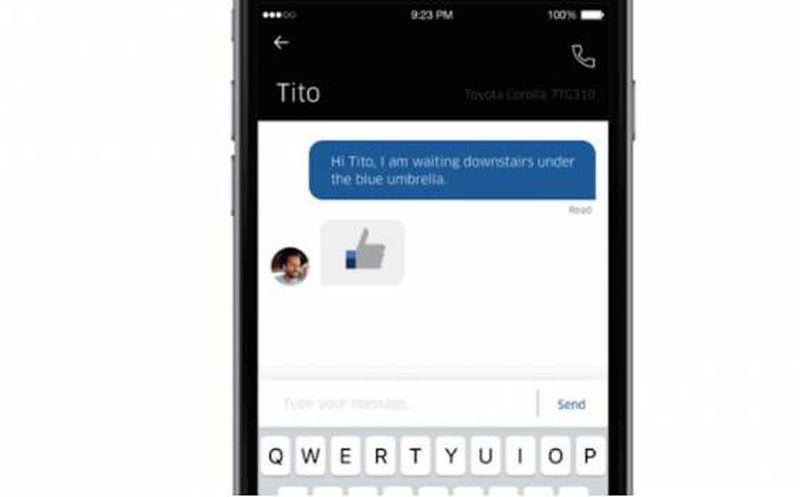 Uber agrega chat entre conductores y pasajeros