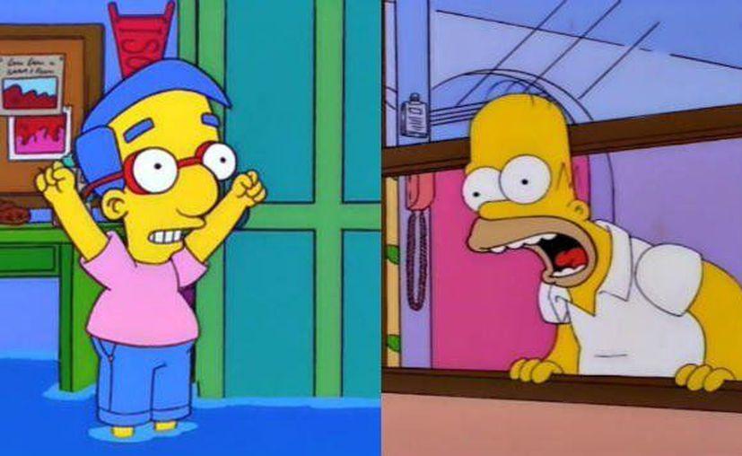 El 'Milhouse challenge' recrea una clásica escena de uno de los episodios de la décima temporada. (Internet)