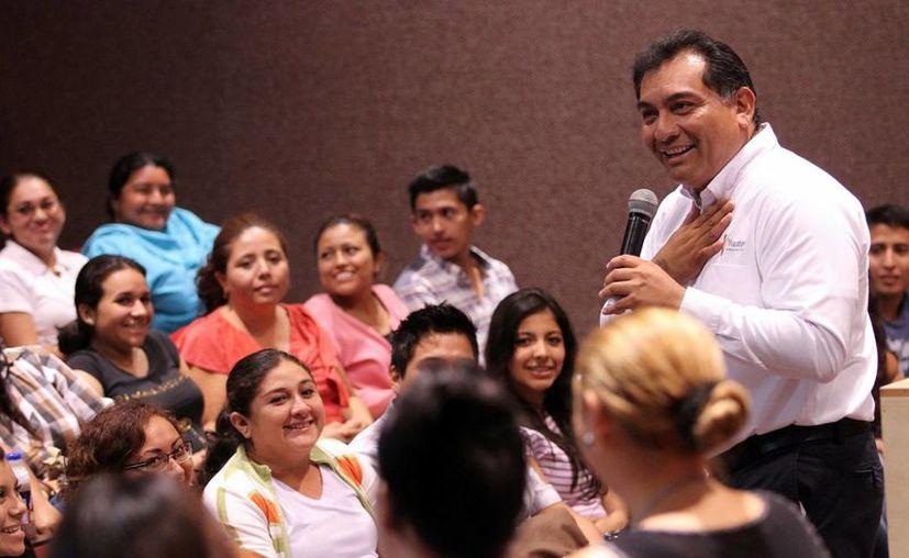 Victor Caballero impulsa de forma activa la participación ciudadana. (Milenio Novedades)