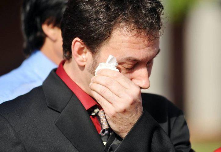 Paul Kevin Curtis ofreció una conferencia de prensa después de su liberación. (Agencias)