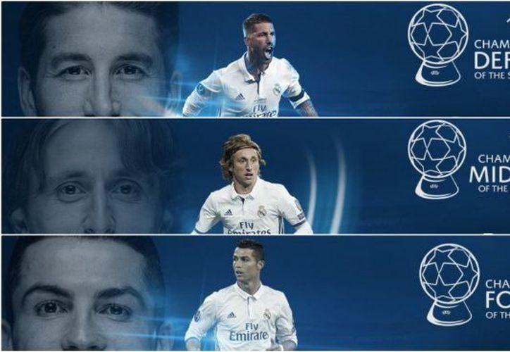 Los merengues dominaron la entrega de premios de la UEFA Champions League. (UEFA)