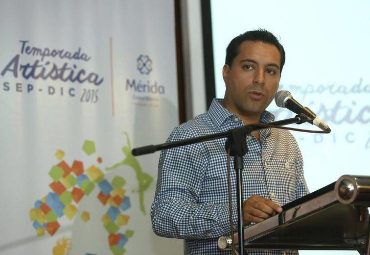 El alcalde Mauricio Vila declaró que dio instrucciones para que se revisen las bases y las reglas de operación de los fondos relacionados con la Segunda Temporada Olimpo Cultura Septiembre-Diciembre 2015. (SIPSE)