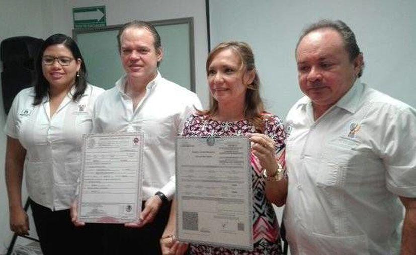 Este martes entró en Yucatán en vigor la expedición de actas de nacimiento con el formato único. (Foto cortesía del Gobierno de Yucatán)