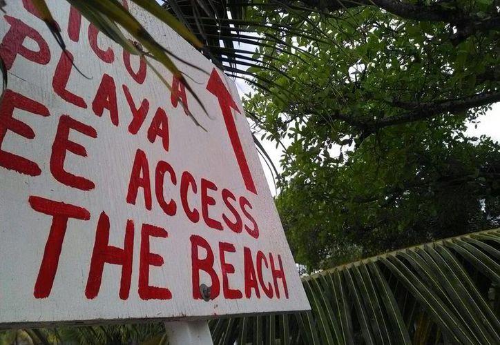 La apertura del acceso concluyó con maquinaria pesada. (Sara Cauich/ SIPSE)