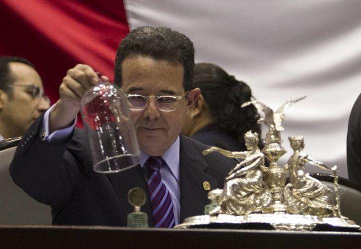 Francisco Arroyo Vieyra, presidente de la Mesa Directiva de la Cámara de Diputados, en una sesión en San Lázaro. (Archivo/Notimex).