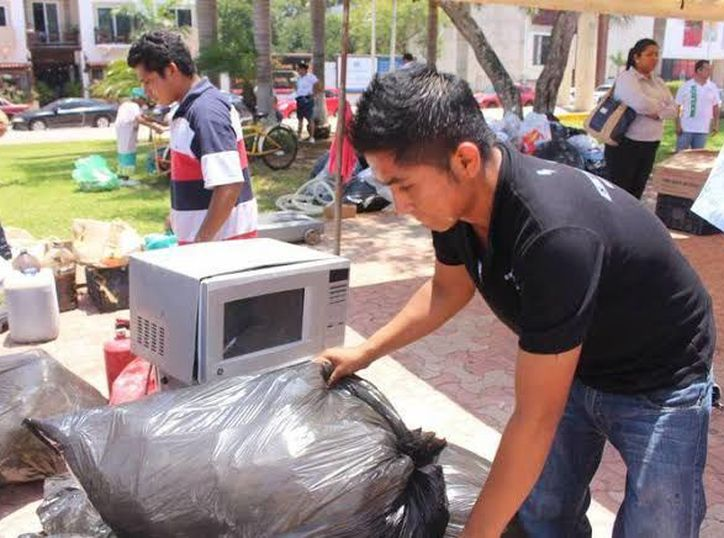 Centros de acopio para reciclaje.(Foto: Novedades Yucatán)