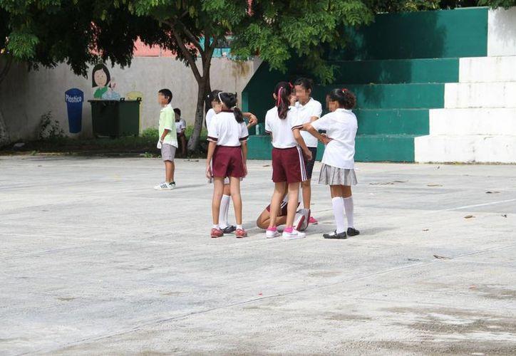 En las escuelas primarias habrá clases hasta el próximo martes. (Tomás Álvarez/SIPSE)