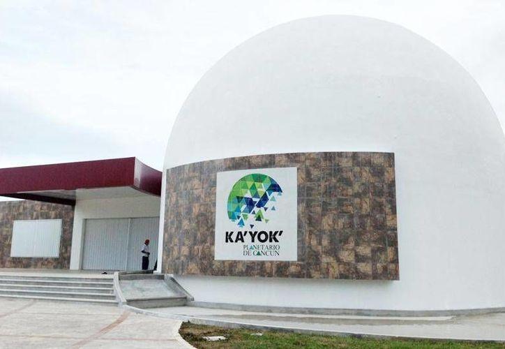 El Planetario Ka' Yok' de Cancún ha recibido hasta la fecha alrededor de 200 mil visitantes. (Redacción/SIPSE)