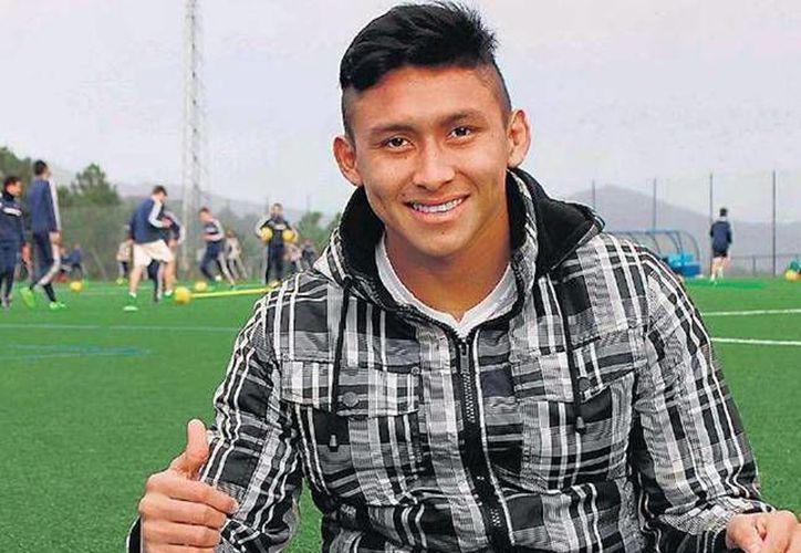 El futbolista campechano Javier Que Delgado en los campos de su club español. (celtavigo.net)