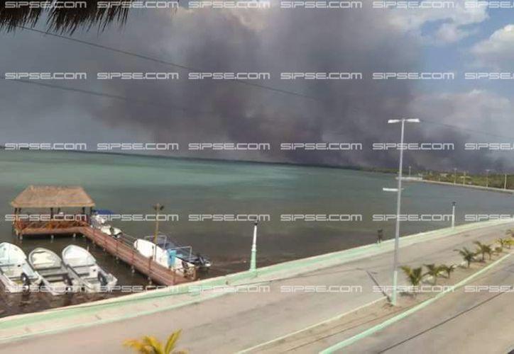 Un incendio ha comenzado a afectar la reserva ecológica de Ría Lagartos, y también a los pobladores cercanos. (SIPSE)
