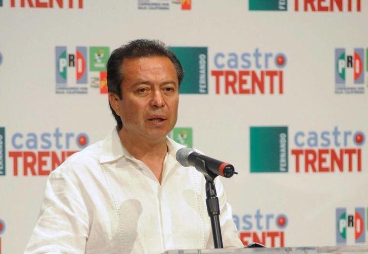 Camacho Quiroz reconoce que las tendencias no favorecen al PRI en Rosarito. (Notimex)