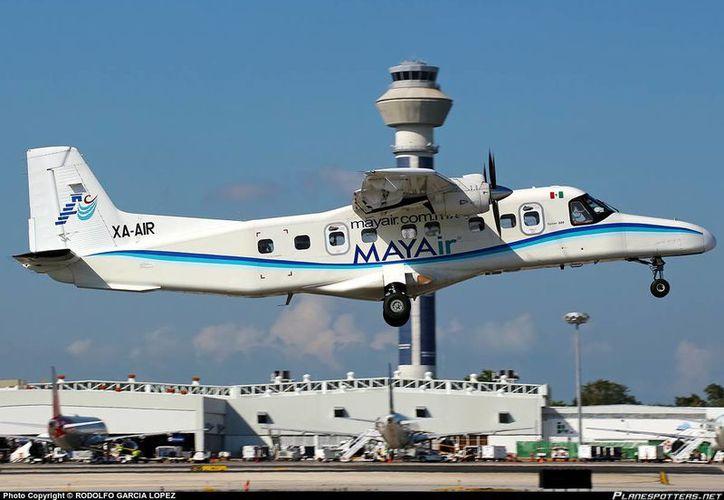 La aerolínea Mayair inaugurará hoy la ruta entre Chetumal y Cancún. (Cortesía)