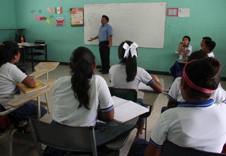 Los maestros obtuvieron mejores resultados este año en la prueba de oposición para obtener plazas. (Redacción/SIPSE)