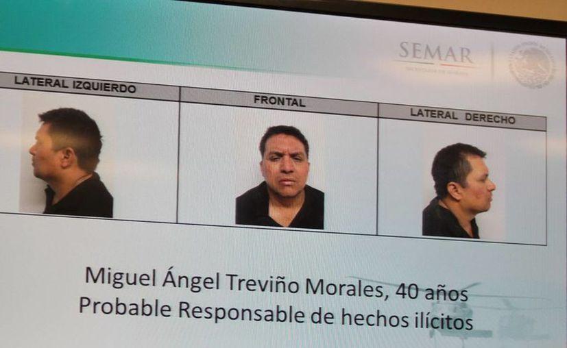 """Miguel Ángel Treviño Morales, """"El Z40"""" fue arrestado tras ocho meses de labores de inteligencia. (Notimex)"""