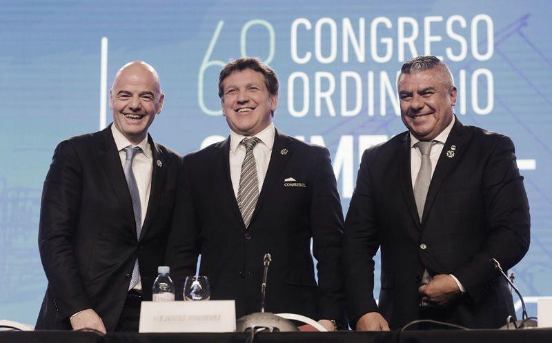 Conmebol apoya candidatura de México-EUA-Canadá para Mundial 2026