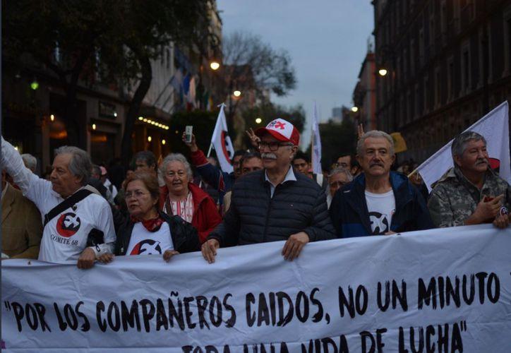 El comité del 68 participó en la Marcha del Silencio. (Internet)