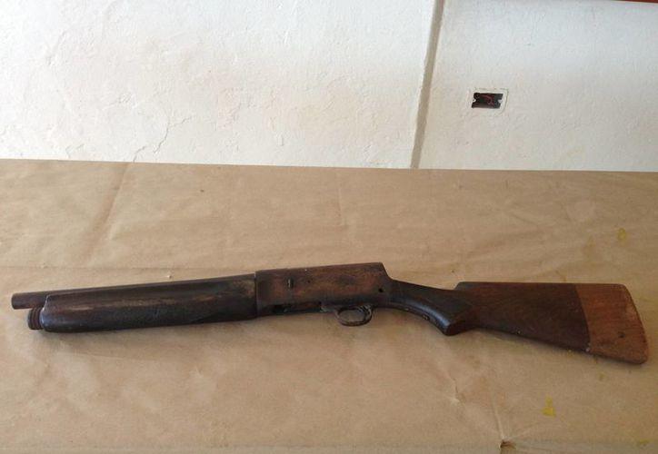 """El arma recibido en la campaña """"Por un Quintana Roo más Seguro"""". (Redacción/SIPSE)"""