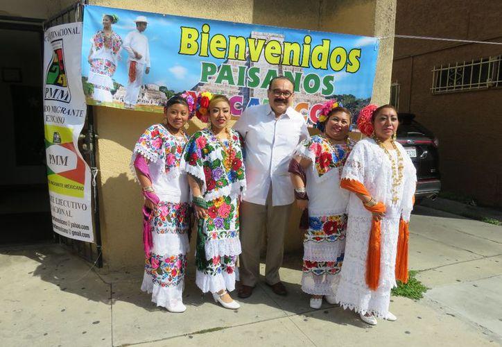 Jorge Carlos Ramírez Marín visitó a la comunidad yucateca que radica en Estados Unidos. (Milenio Novedades)