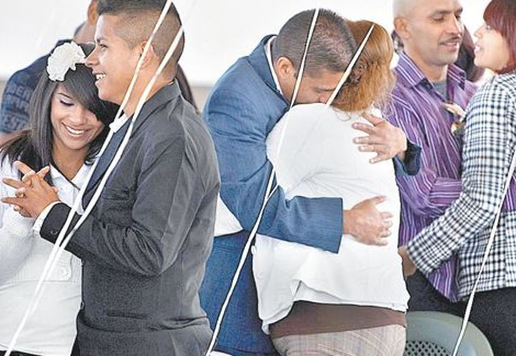 Con esta boda colectiva suman 204 uniones matrimoniales las que se han llevado a cabo en el penal. (Milenio)