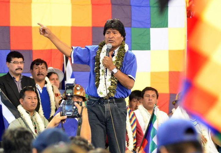"""Evo Morales destacó que """"el sistema eólico es el más ecológico en todo el mundo"""". (Archivo/EFE)"""