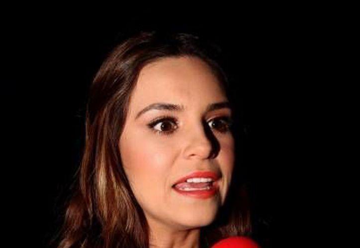 La conductora Tania Rincón mencionó su inquietud de realizar un show deportivo con con invitados especiales y monólogos. (Notimex)