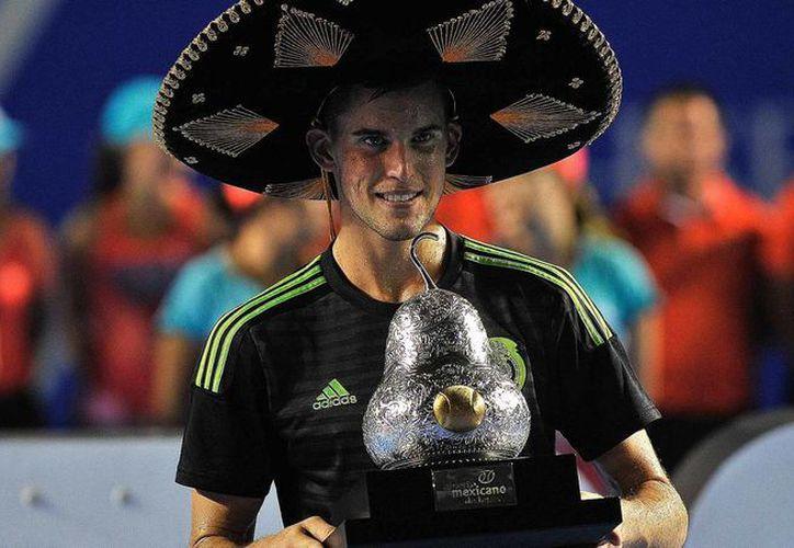 El austriaco Dominic Thiem, ganador del Abierto Mexicano de Tenis 2016, será una de las estrellas del Abierto de Los Cabos, el cual debuta en agosto próximo. (AMT)