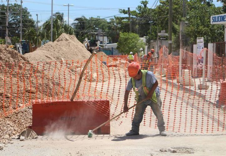 Los trabajos de la colonia Ejidal son los últimos que forman parte de la primera fase del proyecto. (Adrián Barreto/SIPSE)
