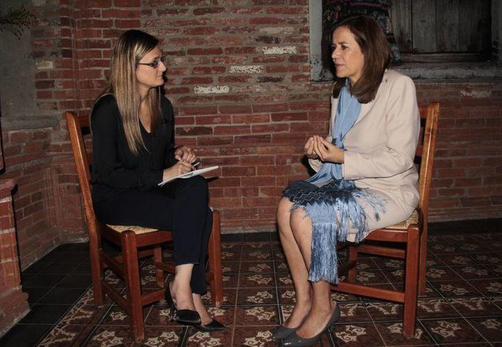 Margarita Zavala Gómez del Campo fue entrevistada por Julieta Milanesio. (Edgar Flores/SIPSE)