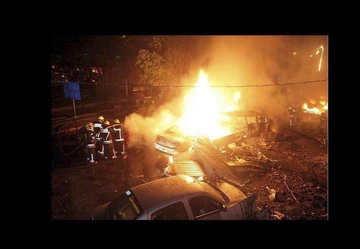 Imagen del accidente en el que falleció el ex secretario de Gobernación Juan Camilo Mouriño en 2008 y en el que Paul Henrí Giménez resultó lesionado. (igaritouch.wordpress.com)