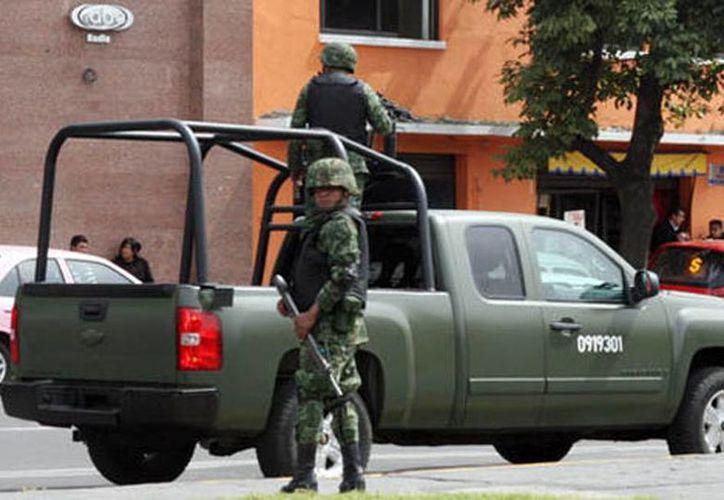 El Ejército es el encargado de la seguridad en el municipio. (milenio.com)