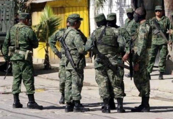 Los militares estiman que afectaron a delincuentes que operan en los 58 municipios de la entidad. (Archivo Notimex)