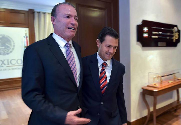 Peña Nieto reiteró su felicitación a Quirino Ordaz Coppel por su triunfo en las elecciones del pasado 5 de junio. (Presidencia)