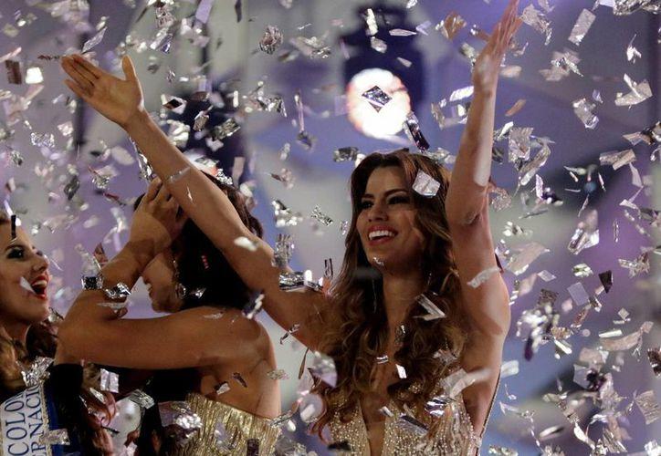 La colombiana Ariadna Gutiérrez, coronada por error Miss Universo, podría darle una entrevista a Steve Harvey, el hombre que la coronó por error durante el certamen de Miss Universo .(Archivo/EFE)